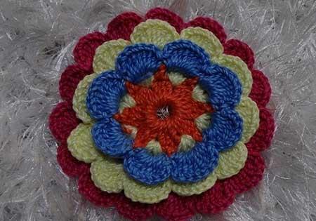 fotos de flor de croche