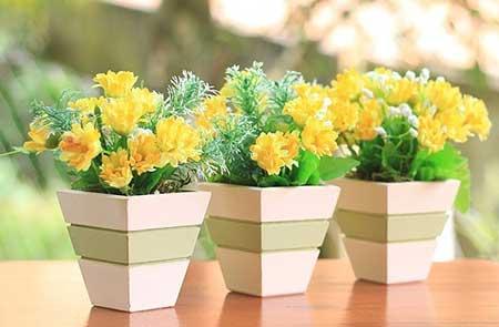 dica de flor artificial