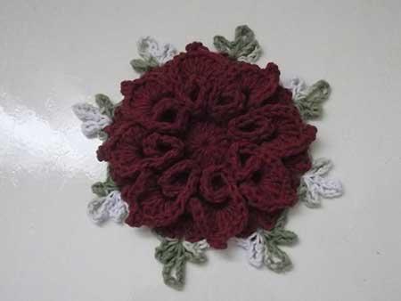 modelos de flor caracol de croche