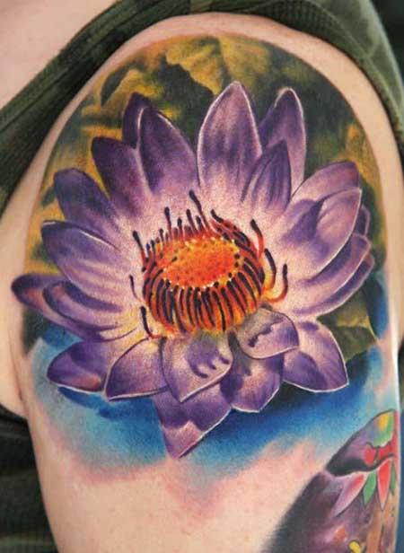 fotos de tatuagens de flor de lótus