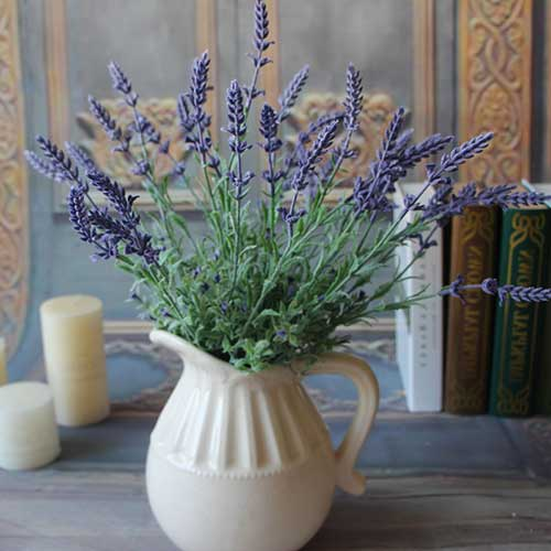 no vaso de cerâmica