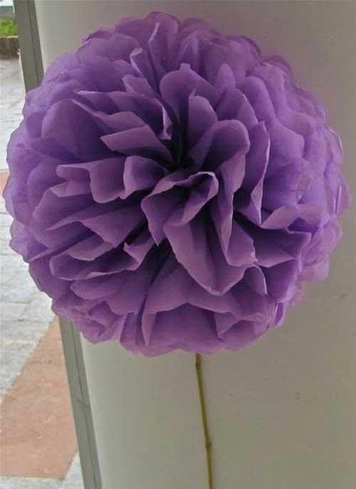 Tutorial Como Fazer Flores de Papel de Seda + Decoraç u00e3o! -> Decoração De Papel Crepom Como Fazer
