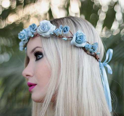 flores na cabeça para mulheres